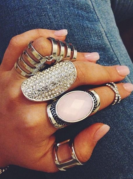 Big rings can be worn together and not look gaudy!