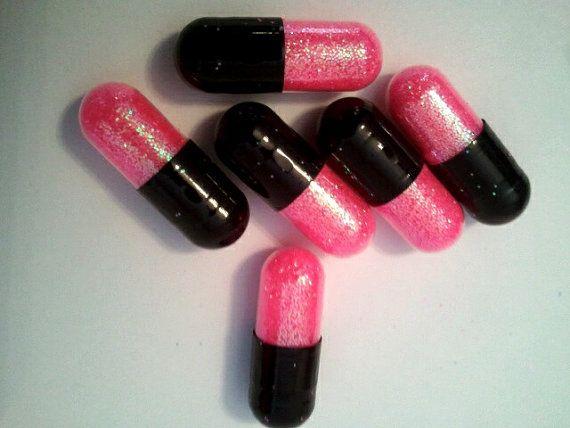 Neon Glitter Pills