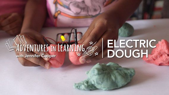 Amp up the fun and have the kids learn about electricity with this experiment! Use homemade conductive and insulating play dough to create circuits that light an LED..