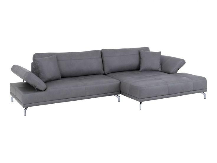 ecksofa belagua leder grau f sse chrom b 322 cm t 165 cm h 83 cm sofa pinterest. Black Bedroom Furniture Sets. Home Design Ideas