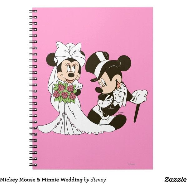 Mickey Mouse Minnie Wedding Notebook (€13) ❤ liked on Polyvore featuring home, home decor and stationery