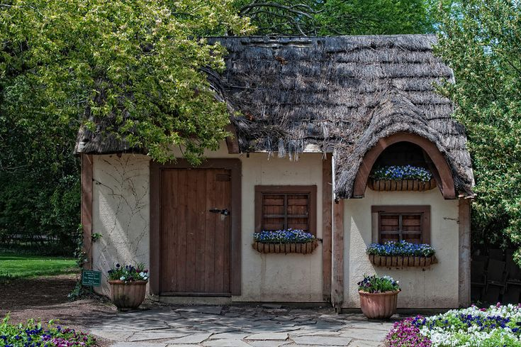 Thatched Roof Mini-Cottage