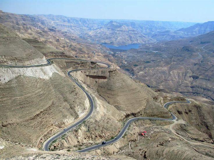 Wadi al Mujib between Madaba and Karak has been called the Grand Canyon of Jordan.