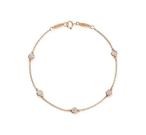 Tiffany & Co.   Item   Elsa Peretti® Diamonds by the Yard® bracelet in 18k rose gold.   United States