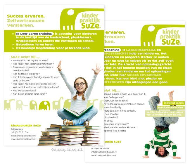 Flyer design for Kinderpraktijk SuZe (coaching and training for kids) by http://ankepanke.nl