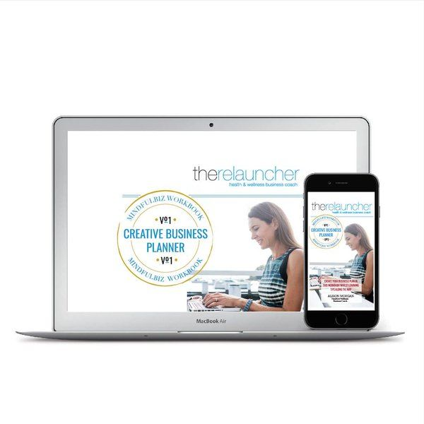 Creative Business Planner for Health & Wellness Businesses  www.relauncher.com.au