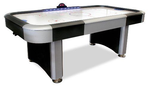 American Legend Interactive 7-Foot Lighted Rail Air Hockey Table by DMI. $404.99. Amazon.com                A great addition to game and rec room spaces, DMI Sports brings air hockey into the 21st century with this American Legend LED-lighted rail air hockey table. It features red, white and blue trailing lights along the rail that track the score while the game is on. When the score is even, embedded LED lights in the rail glow white between the red and blue lines. If the...
