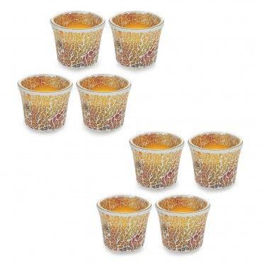 #gift #regalo Elambia Set 8 candele senza fiamma con portacandela a mosaico