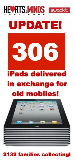 306 families now have iPads thanks to Hearts and Minds :)
