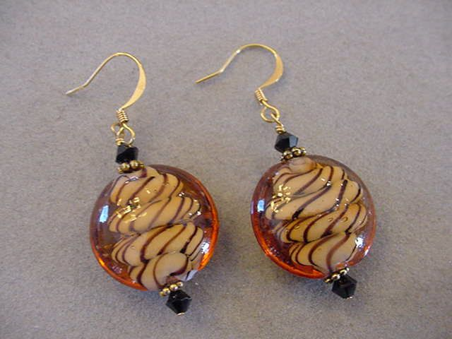 Round Chunky Animal Print Earrings Gold plated earrings Animal print Jewelry by Magicclosetbling on Etsy