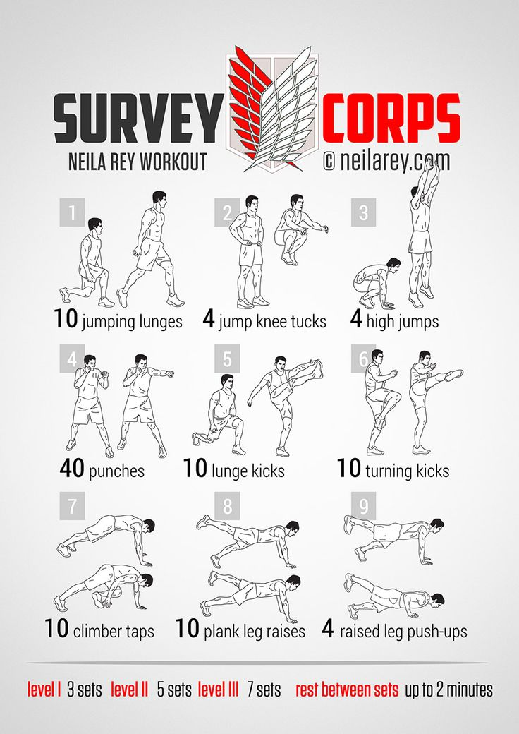 Survey Corps Workout How to get Levi-san Fit!