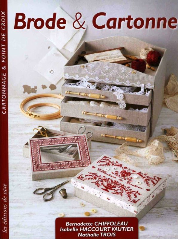 Crear tus cajas de cartón: Trinket Boxes, Le Cartonnage, Broderie Secrèt, Book, Stitches Books, Crosses Stitches, Magazines Diver, Watches, Embroidery