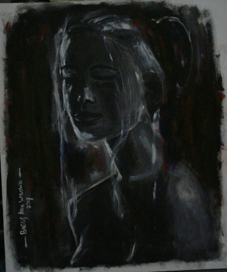 Woman in The Dark  - Acrillic on Canvas