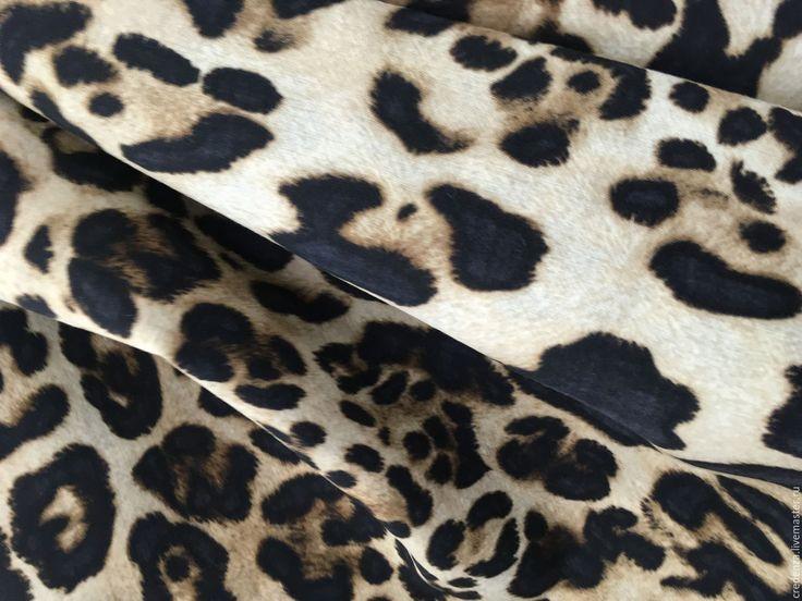 """Купить Плательная шерсть """"леопард"""" - коричневый, леопардовый принт, плательная ткань италия, плательная шерсть"""