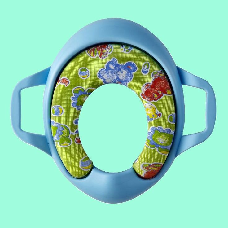 Cartoon Colorful toilet seat kids soft  toilet seat cover  Cushion Child Seat Baby Potty Seat  Safety  with Handrail blue