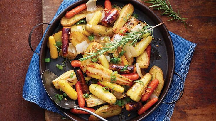Poêlée de légumes racines à l'érable et au romarin