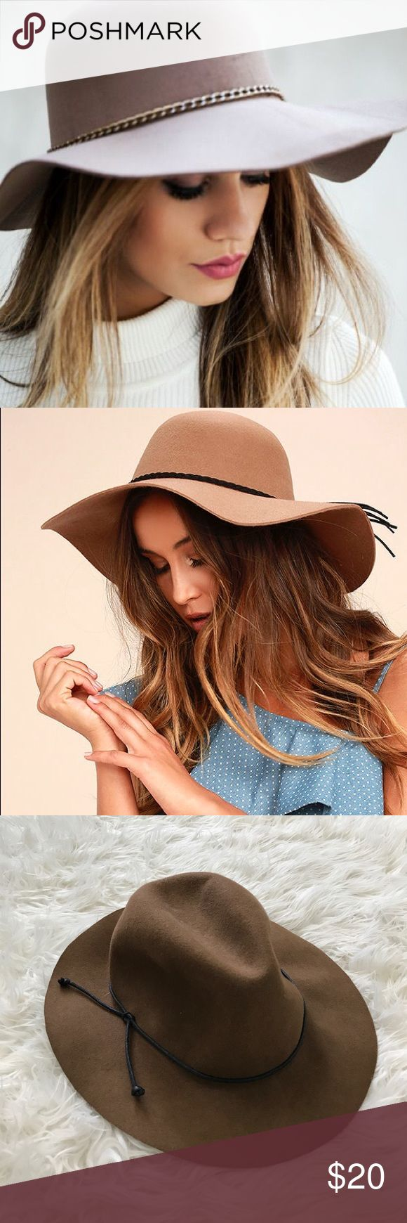 Stylish Boho Floppy Wool Hat Instantly elevate your boho style with our Women's Floppy Hat in Brown. A floppy brim shields you from the sun and the versatile brown color pairs well with a variety of outfits. Made of 100% wool, this women's hat is the perfect choice for a chilly fall or spring day. Material: 100% Wool Accessories