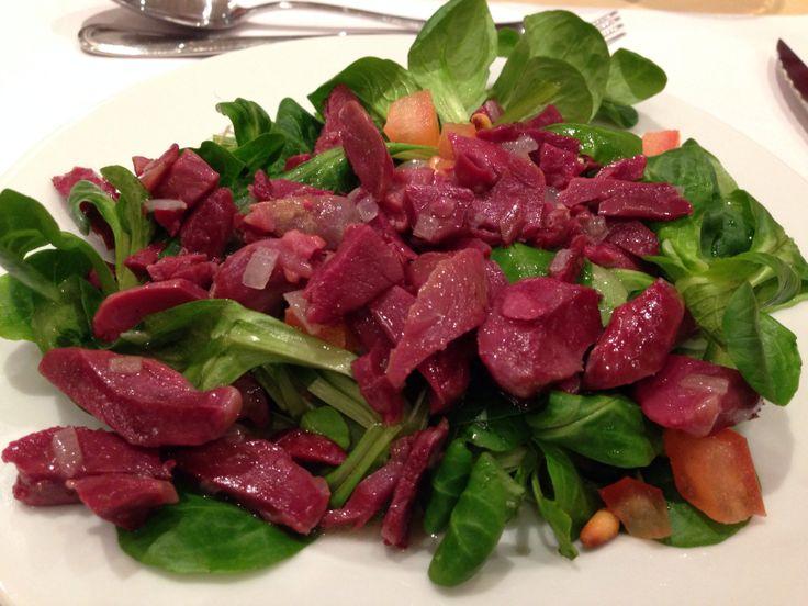 Salade tiède de gésiers: super bon!! !