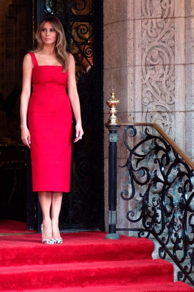 Melania Trump Wore The Most Stunning Red Dress A Fashion Critic Has Ever Laid Eyes On