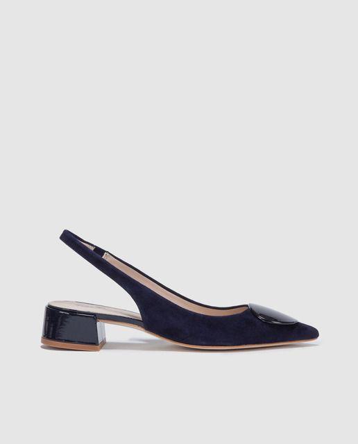 Zapatos de salón de mujer Gloria Ortiz destalonados de piel