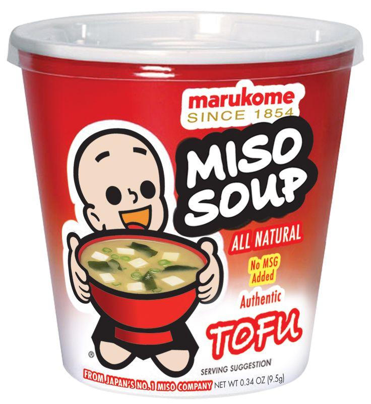 marukome: FD Cup Tofu Instant Miso Soup http://www.marukomeusa.com ...
