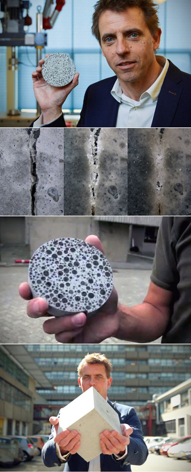 Self-Healing Concrete Uses Bacteria, Activated by Water, to Fill Cracks, Here's Another Look