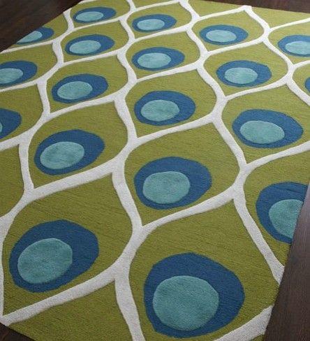Bold Peacock rug