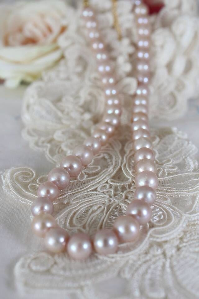 Pink Pastel freahwater pearls necklace A++/12mm.