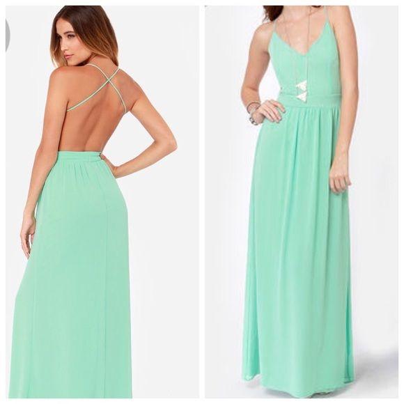 Mint maxi New backless mint maxi dress size small Dresses Maxi