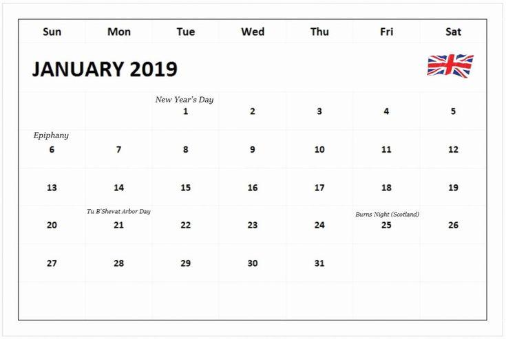 January 2019 Calendar Canada School Holidays 101+ Free January