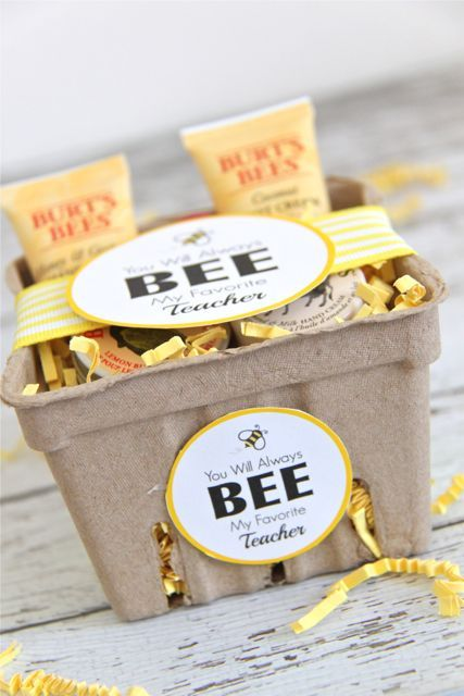 Burts Bees Teacher Gift Idea With Printable Tags