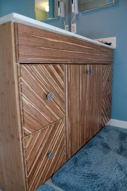 Lovely Bamboo Finish towel Cabinet