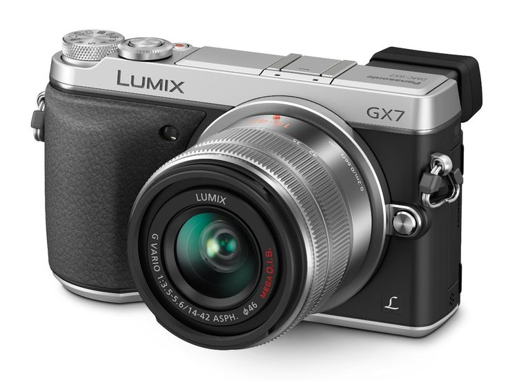 Panasonic LUMIX GX7 16.0 MP DSLM Camera with LUMIX G VARIO 14-42mm II Lens and Tilt-Live Viewfinder (Silver)
