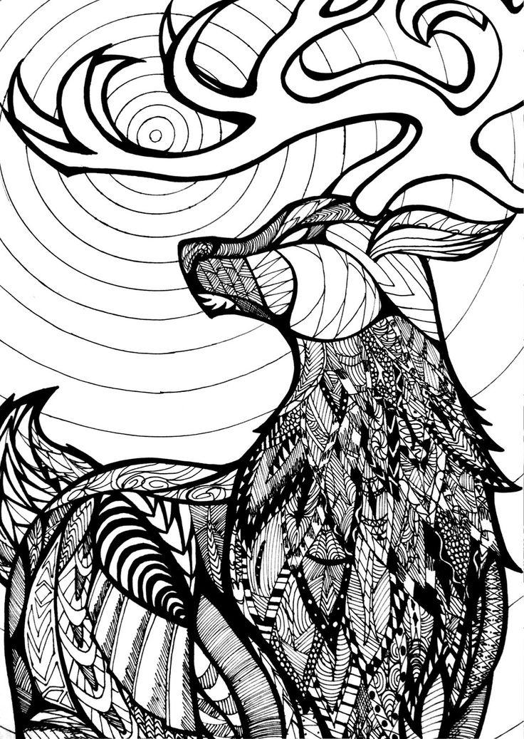 zentangle wolf - Hľadať Googlom