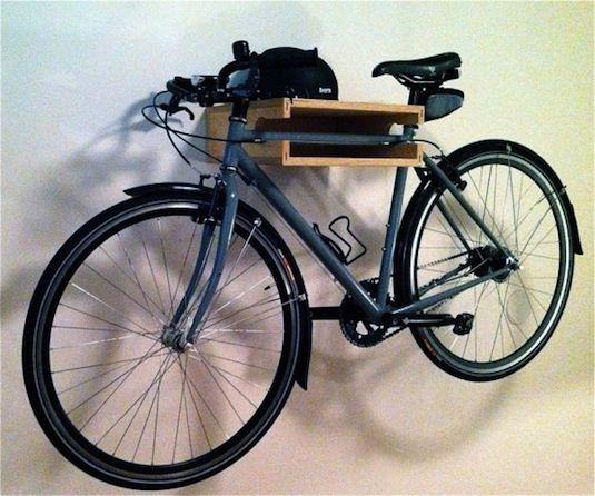 28 Brilliant Garage Organization Ideas   Bike Shelf