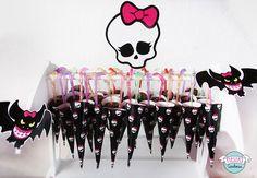 Paraguitas de chocolate de Monster High