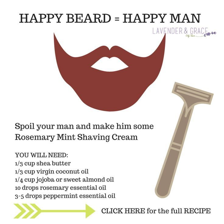 Diy Rosemary Mint Shaving Cream Essential Oils For Your Man S Fall Beard Www Lavenderngrace Dude Stuff Essentials