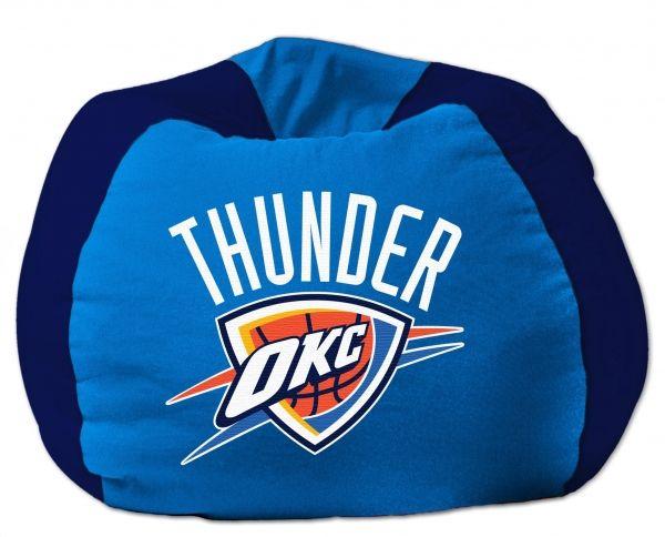 """Oklahoma City Thunder NBA 102"""" Cotton Duck Bean Bag"""