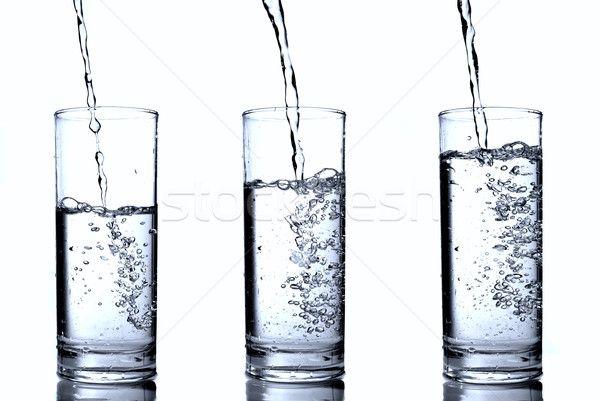 Stockfoto: Water · glas · voedsel · achtergrond · blauw · drinken