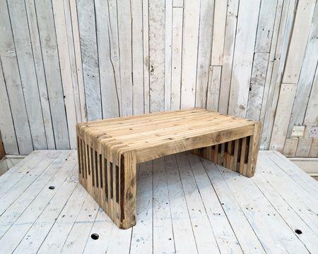 Sofabord af genbrugstræ fra gamle paller. via eastlondonfurniture ...