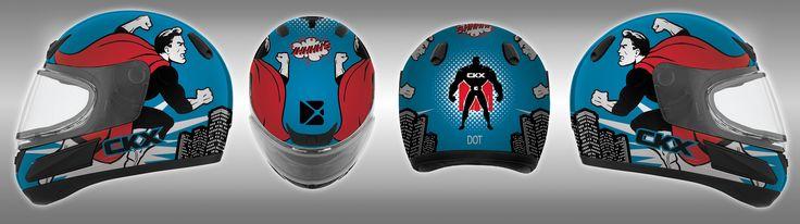 Super hero helmet graphic. CKX