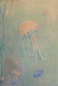 Fonds marins aux méduses