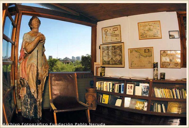 Estudio Casa Museo La Chascona, Pablo Neruda, Santiago, Chile