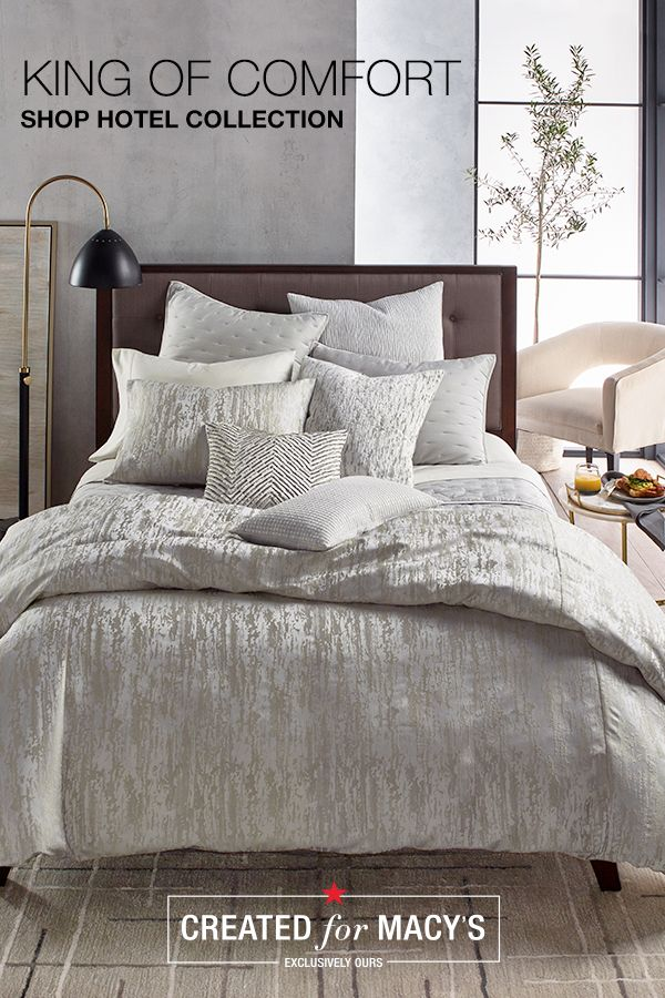 Hotel Collection Created For Macy S Meet The King And Queen And Full Of Comfort From Linen Bedding To Throw Pillows An Home Bedroom Styles Dwell Studio