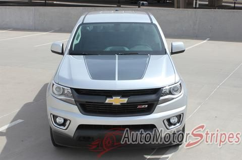 Vehicle Specific Style Chevy Colorado Truck SUMMIT Split Hood Factory OEM Style Truck Racing Stripe Accent Vinyl Graphics Decals Year Fitment 2015 2016 2017 201