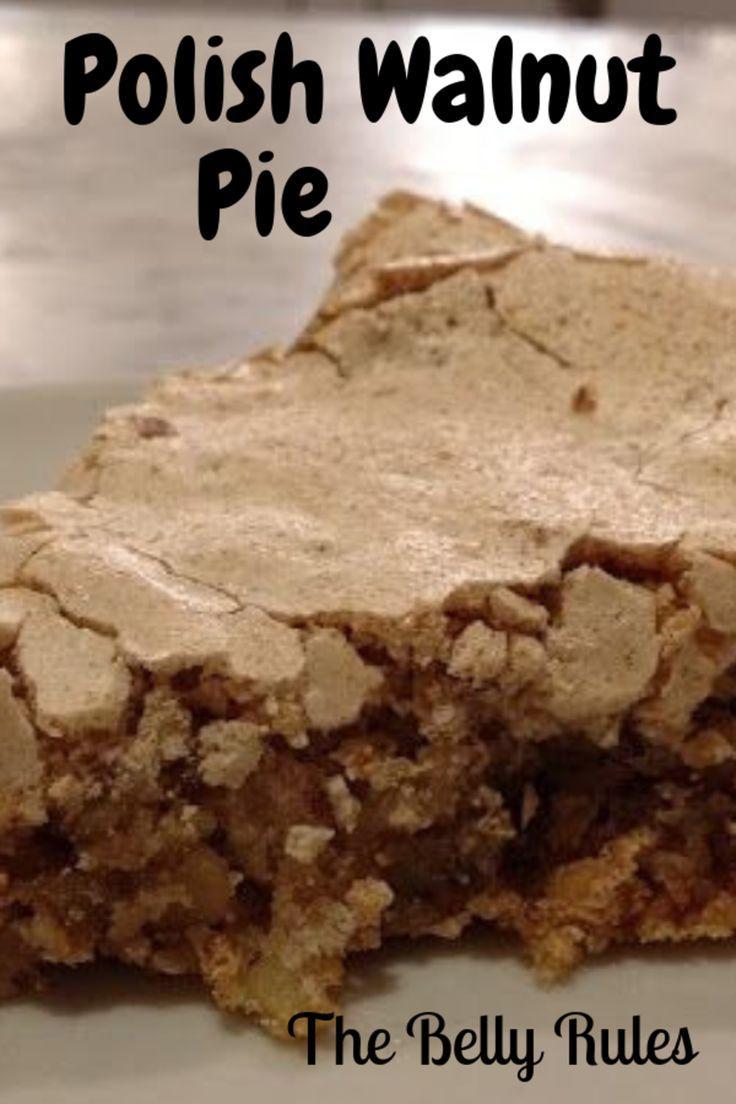 Polish Walnut Pie