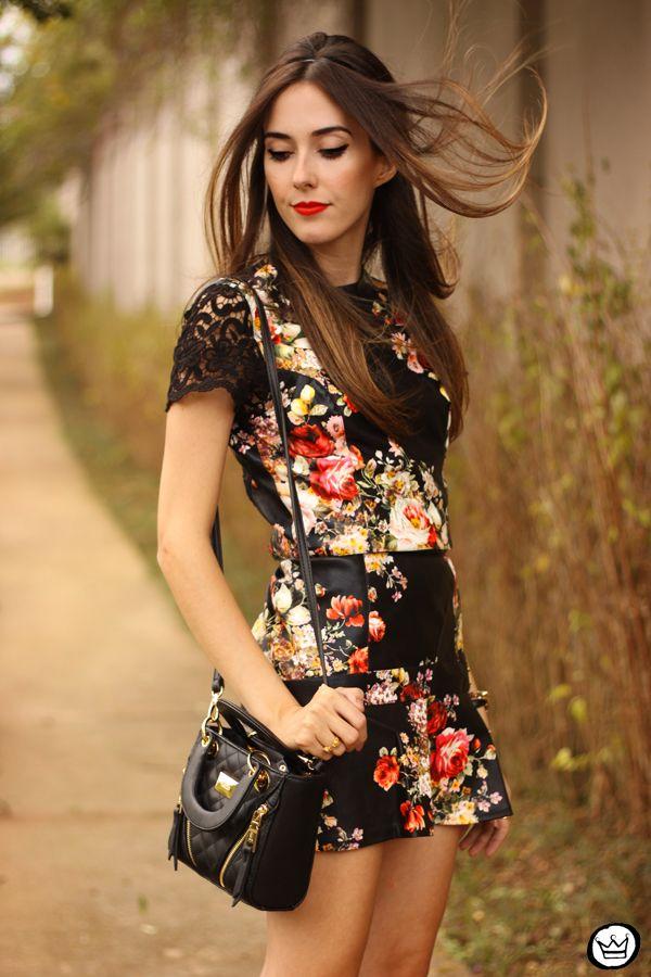 Black Floral <3 Beutiful Look Fashioncoolture