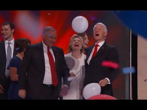 Bill Clinton Plays With Balloons at the DNC