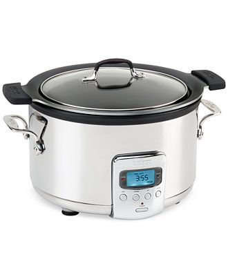 All-Clad 4 QT. Slow Cooker with Black Ceramic Insert - Electrics - Kitchen - Macy's