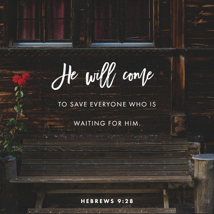So Christ died only once to take away the sins of many people. But when he comes again, it will not be to take away sin. He will come to save everyone who is waiting for him.